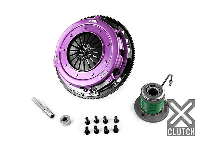 X-Clutch 10.50-Inch Organic Twin Disc Clutch Kit with 6-Bolt Flywheel; 10 Spline (05-10 GT)