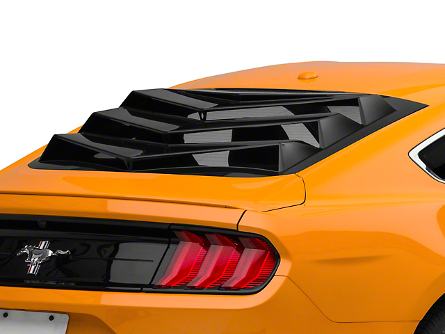 Bakkdraft Rear Window Louver; Gloss Black (15-21 Fastback)