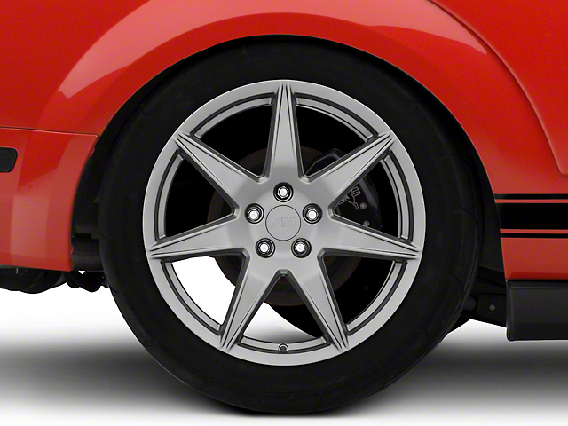 2020 GT500 Style Charcoal Wheel; Rear Only; 19x10 (05-09 All)