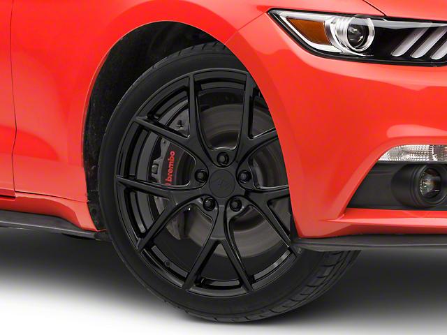 Performance Pack 2 Style Gloss Black Wheel; 19x8.5 (15-21 GT, EcoBoost, V6)