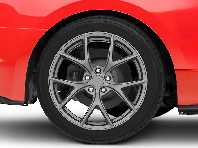 Performance Pack 2 Style Charcoal Wheel; 19x10; Rear Only (15-21 GT, EcoBoost, V6)