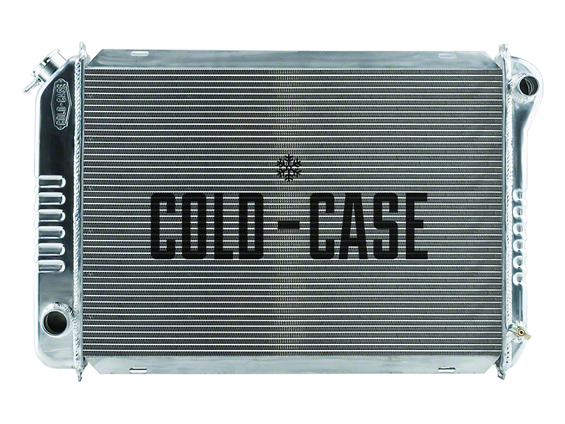 Cold Case Aluminum Performance Radiator; 1-Inch Tubes (87-93 5.0L w/ Automatic Transmission)