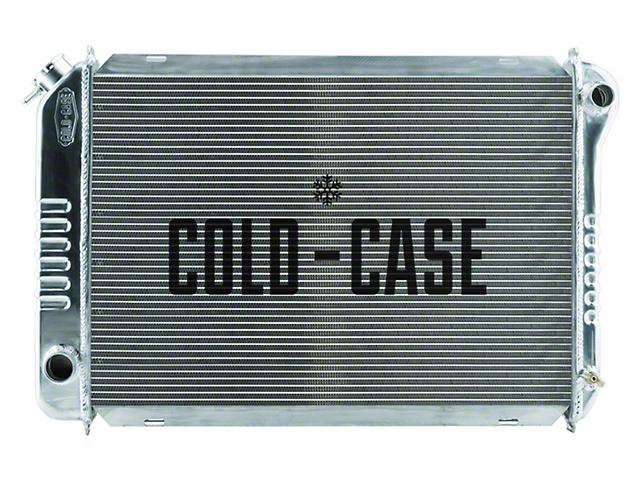 Cold Case Aluminum Performance Radiator; 1-Inch Tubes (87-93 5.0L w/ Manual Transmission)