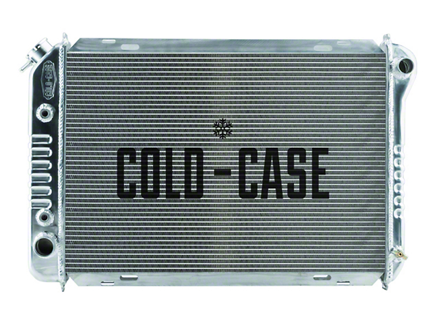 Cold Case Aluminum Performance Radiator; 1-Inch Tubes (87-93 5.0L)