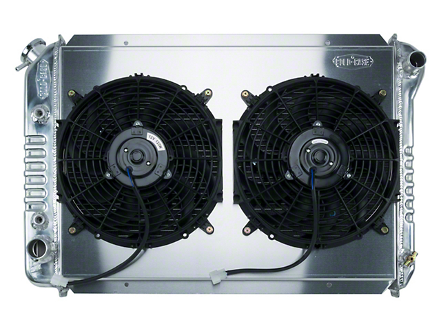 Cold Case Aluminum Performance Radiator with Dual 12-Inch Fans; 1.25-Inch Tubes (87-93 5.0L)
