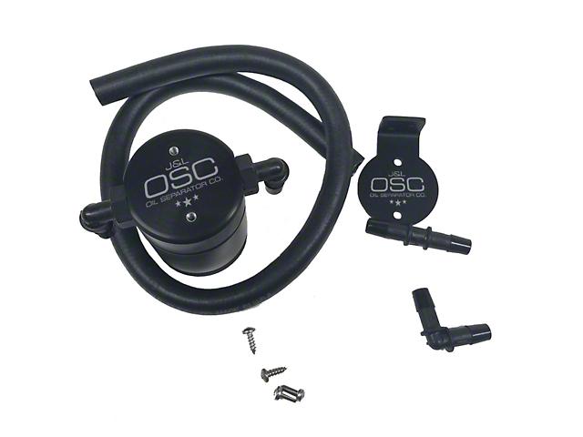 JLT 3.0 Black Oil Separator; Driver Side (96-98 Cobra; 2001 Bullitt)
