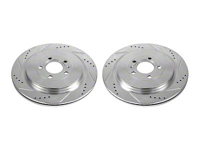 Power Stop AR8579XPR Rear Evolution Drilled /& Slotted Rotor Pair