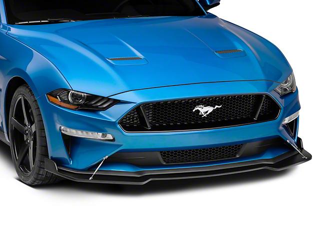 Front Splitter; Matte Black (18-20 GT w/o Performance Pack)