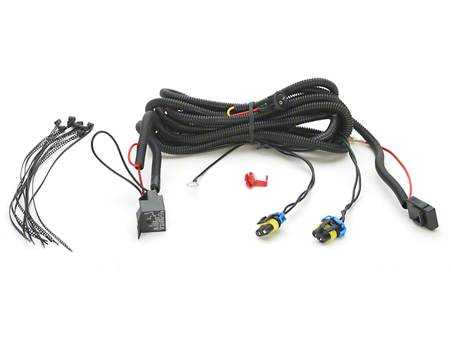 mustang gt fog light grille wiring harness  05