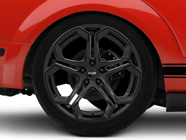 Foose Impala Gloss Black Wheel; 20x9 (08-21 All, Excluding AWD)