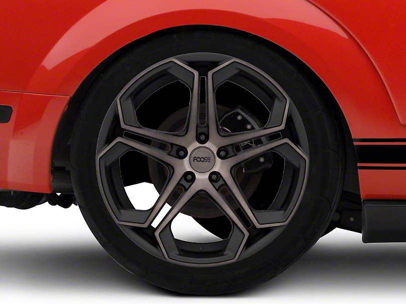 Foose Impala Matte Black Machined Wheel; 20x9 (08-20 All, Excluding AWD)