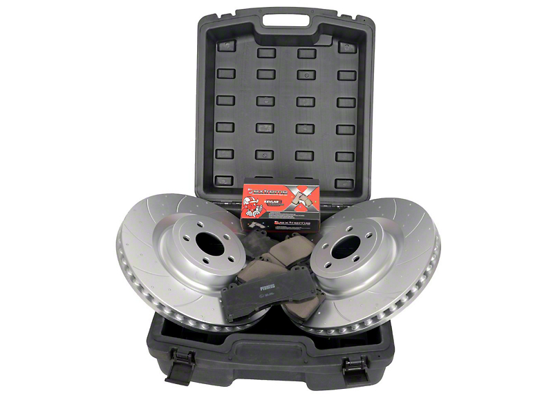 Pedders SportsRyder Brake Rotor and Pad Kit; Front and Rear (15-20 GT w/ Performance Pack)