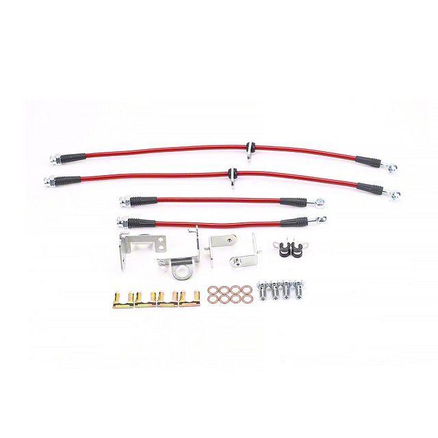 Pro Braking PBF0515-PNK-SIL Front Braided Brake Line Pink Hose /& Stainless Banjos