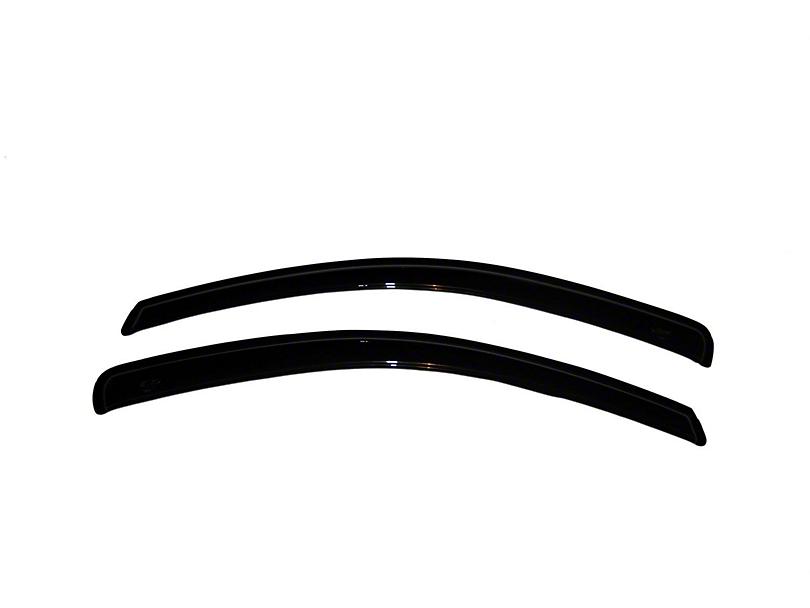 Ventvisor Window Deflectors; Dark Smoke (05-09 Coupe)
