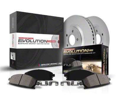 Power Stop CRK7581 Front /& Rear Kit-Coated Rotors and Z17 Ceramic Brake Pads