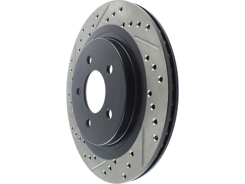StopTech Select Sport Drilled and Slotted Rotor; Front (1979 5.0L; 82-86 All; 87-93 2.3L)