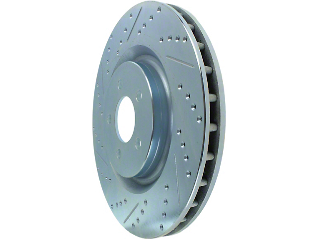 StopTech Select Sport Drilled and Slotted Rotor; Front (11-14 GT Brembo; 12-13 BOSS 302; 07-12 GT500)
