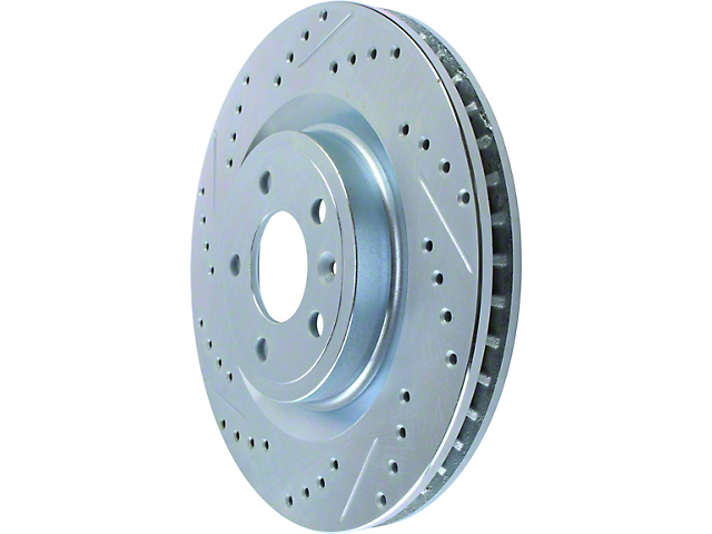 StopTech Select Sport Drilled and Slotted Rotor; Front (11-14 Standard GT)