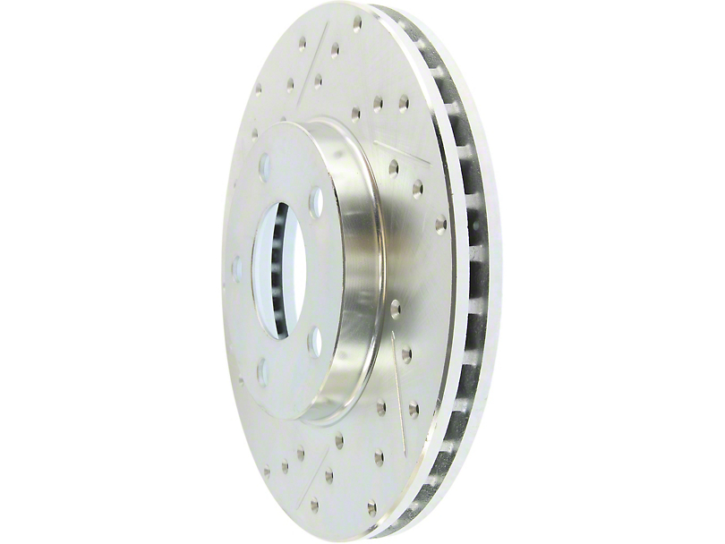 StopTech Select Sport Drilled and Slotted Rotor; Front (94-04 GT, V6)