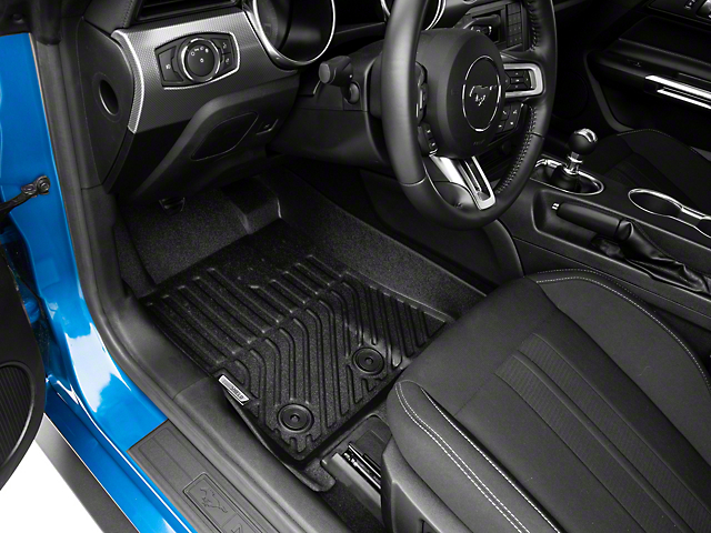 TruShield Precision Molded Front Floor Liners; Black (15-20 All)