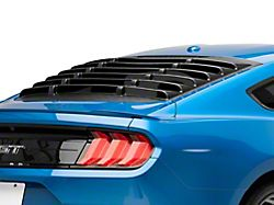 Rear Window Louvers; Textured Black (15-21 Fastback)
