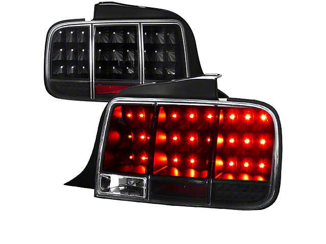 Sequential LED Tail Lights; Black (05-09 All)