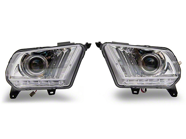 Sequential Projector Headlights; Chrome Housing; Clear Lens (10-12 w/ Halogen Headlights)