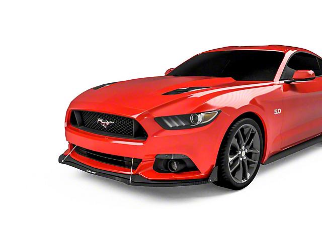 Front Chin Splitter; Gloss Carbon Fiber (15-17 GT, EcoBoost V6)