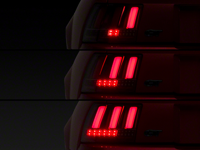 Sequential LED Tail Lights; Red (99-04 All, Excluding 99-01 Cobra)