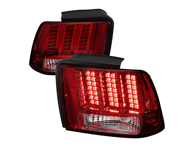 Sequential LED Tail Lights - Red (99-04 All, Excluding 99-01 Cobra)