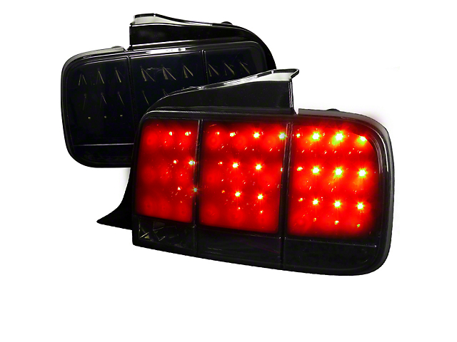LED Tail Lights; Smoked (05-09 All)