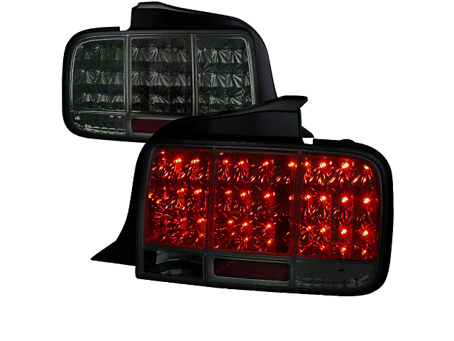 Sequential LED Tail Lights; Smoked (05-09 All)