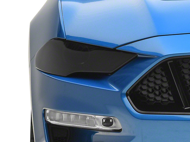 SpeedForm Headlight Covers; Smoked (18-21 GT, EcoBoost)