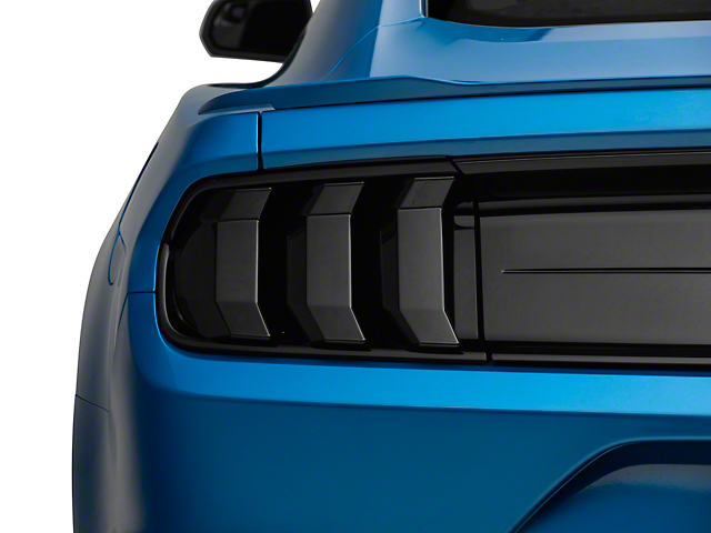 SpeedForm Tail Light Covers; Smoked (18-21 GT, EcoBoost, GT500)