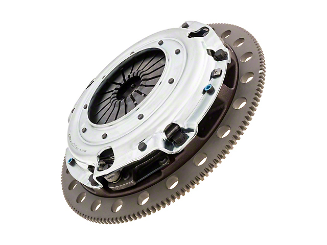 Exedy Stage 4 Twin Disc Organic Clutch Kit with 6-Bolt Flywheel; 10 Spline (96-10 4.6L)