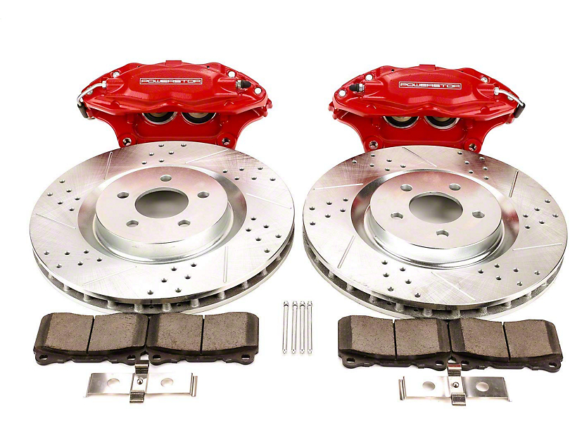 Power Stop Front Big Brake Conversion Kit - Red Calipers (05-14 Standard GT, V6)