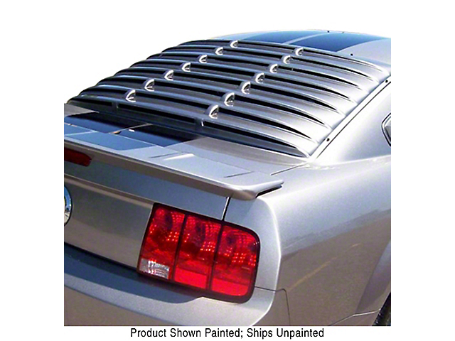 ABS Rear Window Louver; Unpainted (05-14 Coupe)