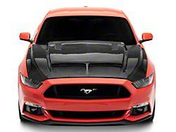 GT500 Style Hood; Carbon Fiber (15-17 GT, EcoBoost, V6)