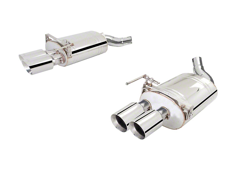 X-Force Twin 3-Inch Polished Axle-Back Exhaust (18-20 GT Fastback w/o Active Exhaust)