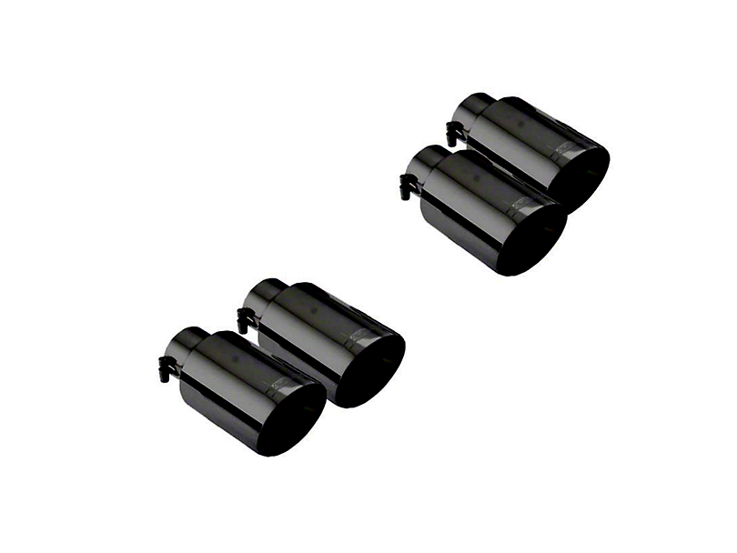 X-Force Twin 4-Inch Quad Exhaust Tips; Black (18-20 GT)