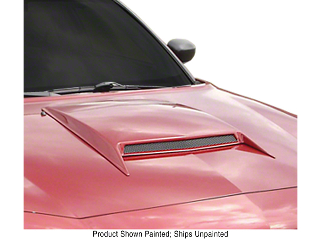 ABS Large Hood Scoop; Unpainted (05-20 GT, EcoBoost, V6)