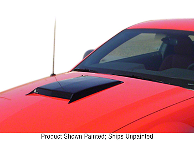 ABS Small Hood Scoop; Unpainted (06-21 All)
