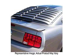 ABS Rear Window Louvers; Pre-Painted (05-14 Coupe)