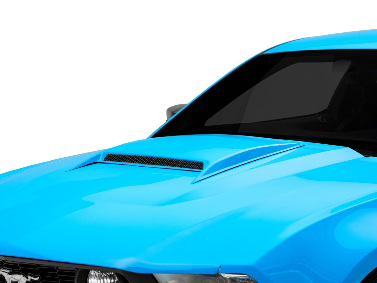 Mustang 302 Classic Hood Scoop Shaker Emblem in Chrome /& Black