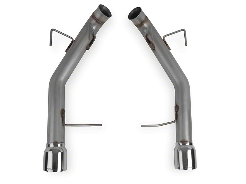 Hooker BlackHeart Muffler Delete Axle-Back Exhaust with Polished Tips (11-14 V6)