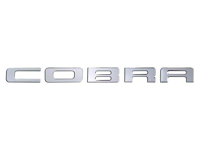Bumper Insert Letters; Liquid Chrome (03-04 Cobra)