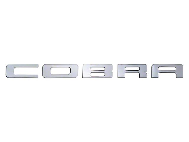 Bumper Insert Letters - Liquid Chrome (03-04 Cobra)