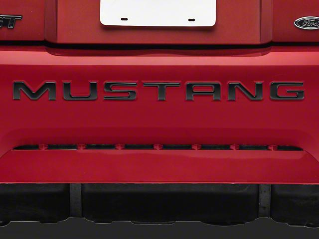 Bumper Insert Letters; Matte Black (99-04 GT, V6)
