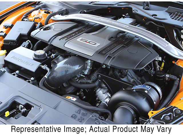 Procharger Stage II Intercooled Supercharger Kit; Black Finish (18-20 GT)