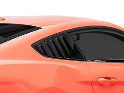 MP Concepts Quarter Window Louvers; Gloss Black (15-21 Fastback)
